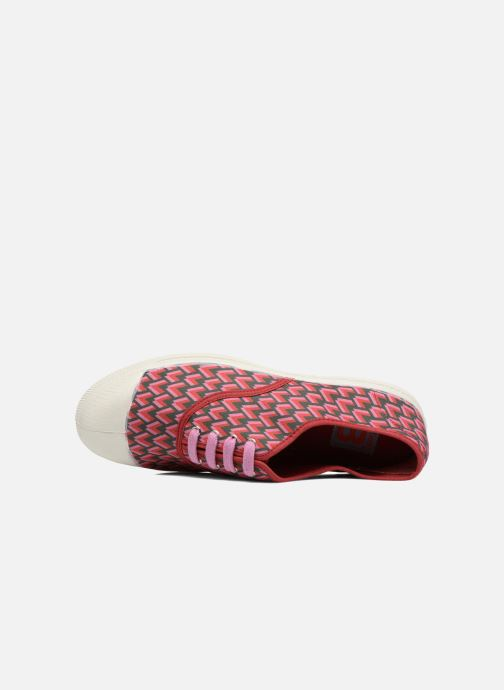 Trainers Bensimon Tennis Retro Triangle Pink view from the left