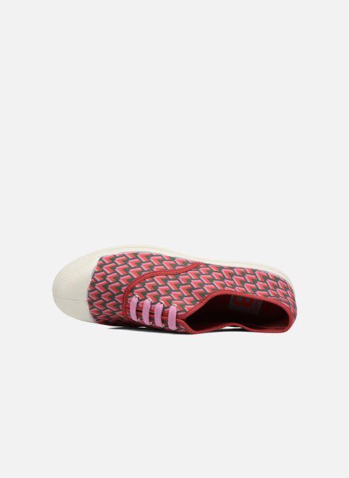 Sneakers Bensimon Tennis Retro Triangle Rosa immagine sinistra