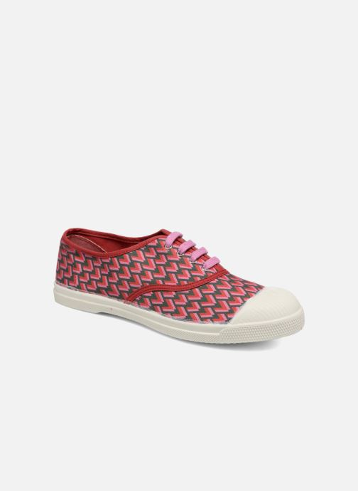 Trainers Bensimon Tennis Retro Triangle Pink detailed view/ Pair view