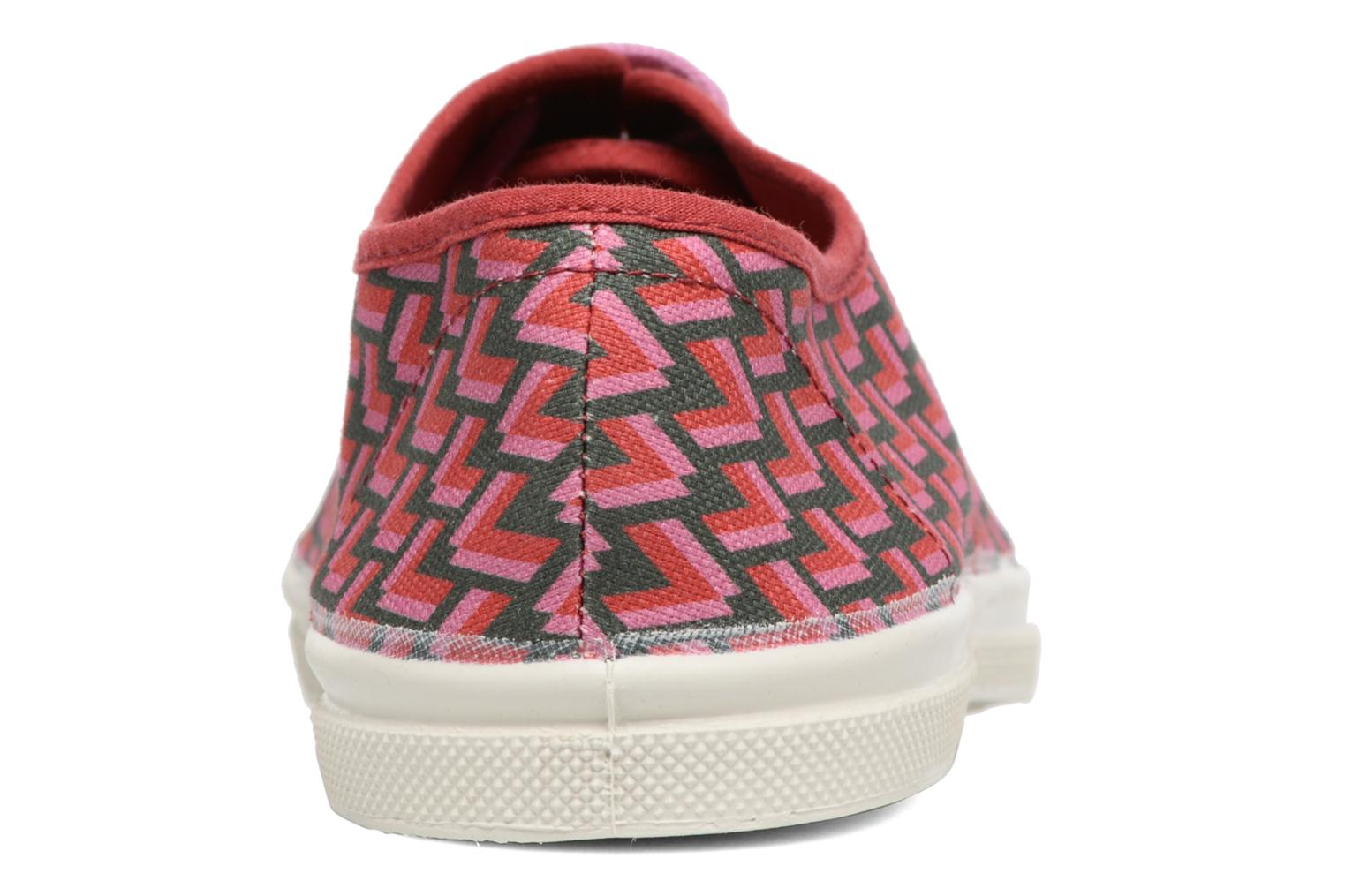Trainers Bensimon Tennis Retro Triangle Pink view from the right