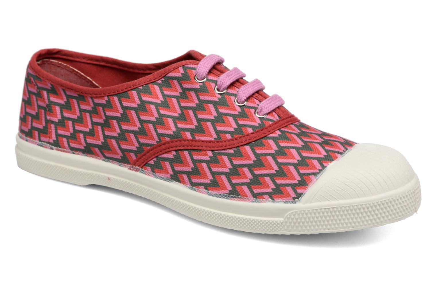 Sneakers Bensimon Tennis Retro Triangle Roze detail