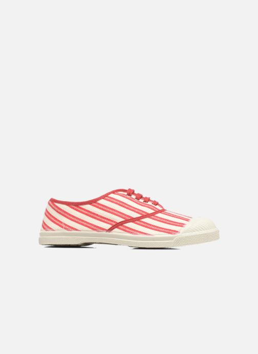Trainers Bensimon Tennis Rayures Transat Red back view
