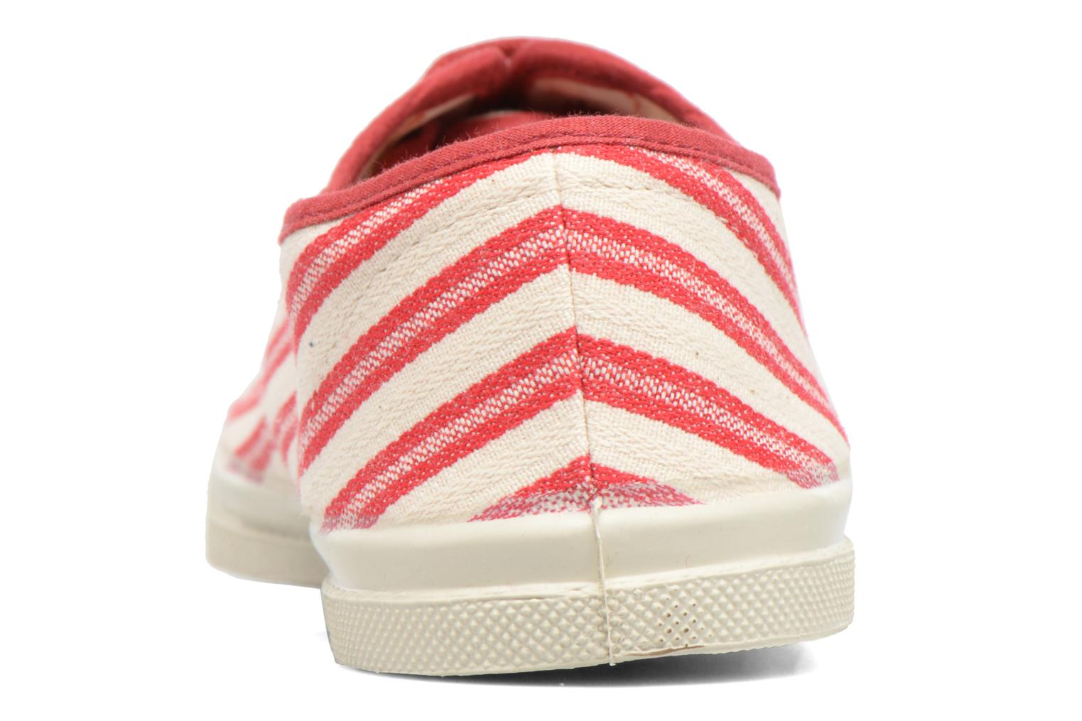 Trainers Bensimon Tennis Rayures Transat Red view from the right