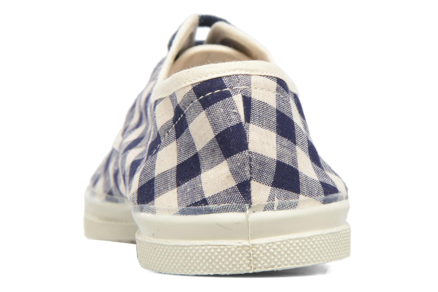 Trainers Bensimon Tennis Vichy Lin Blue view from the right