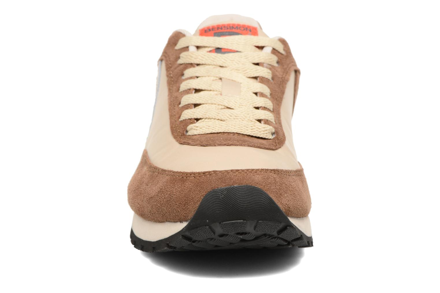 Trainers Bensimon Runnings Brown model view