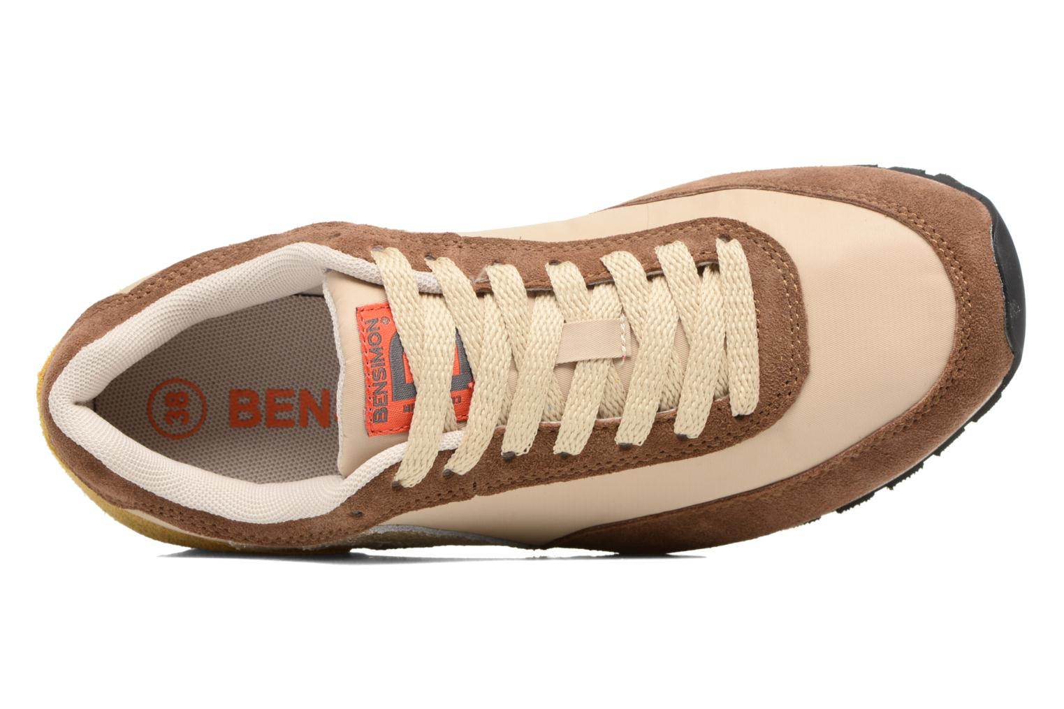 Trainers Bensimon Runnings Brown view from the left