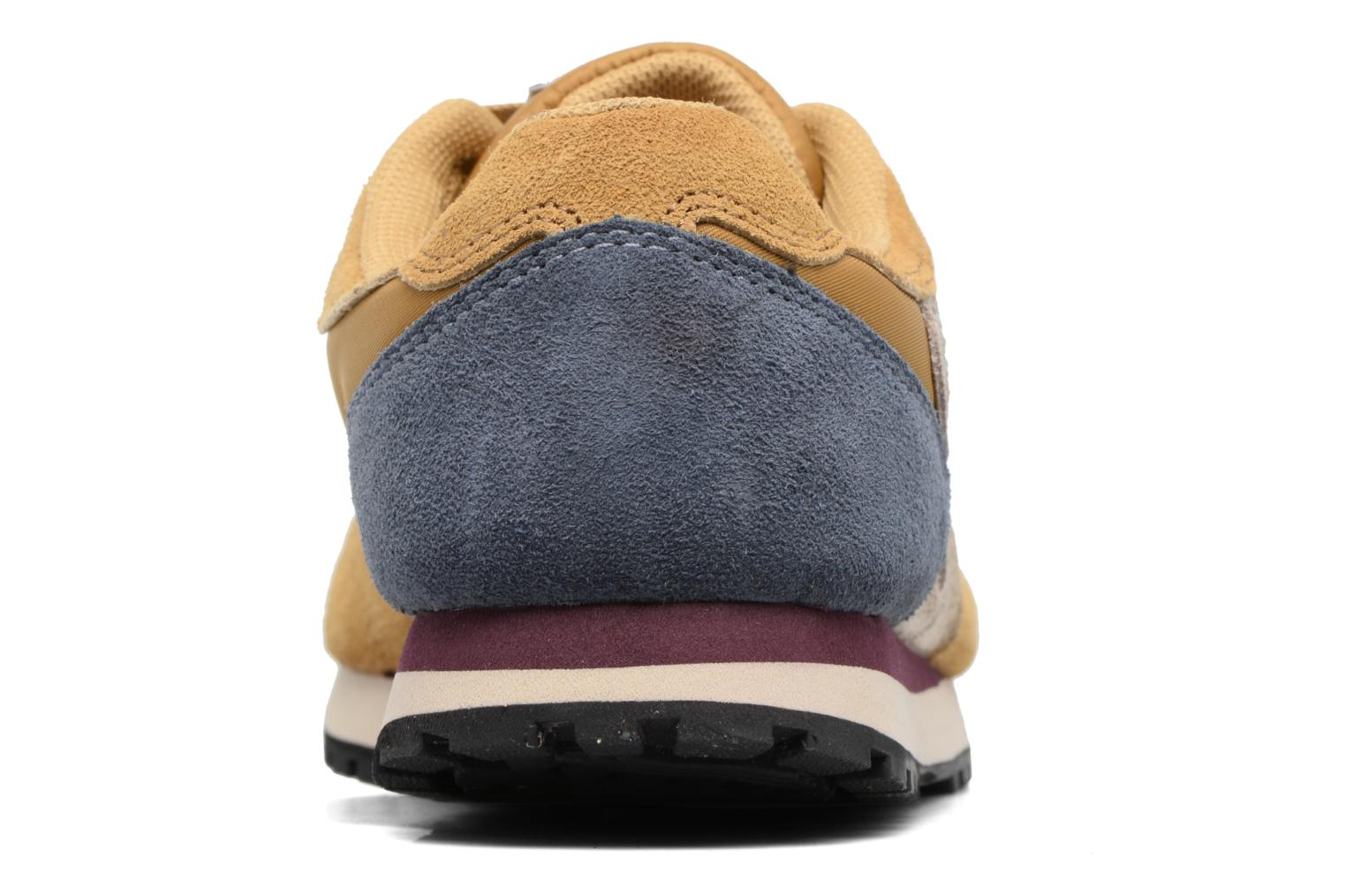 Trainers Bensimon Runnings Yellow view from the right
