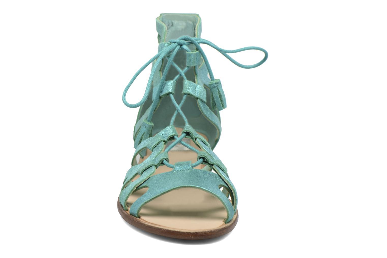 Sandals Bensimon Spartiate Montante Blue model view