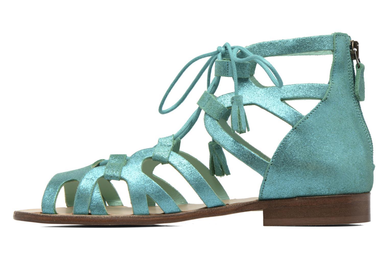 Sandals Bensimon Spartiate Montante Blue front view