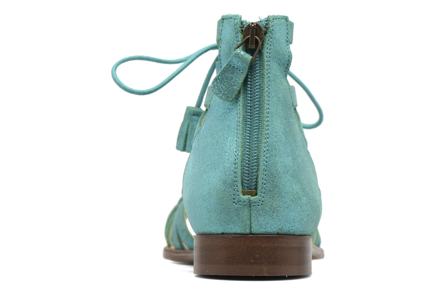 Sandals Bensimon Spartiate Montante Blue view from the right