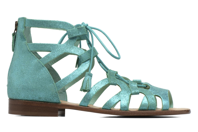 Sandals Bensimon Spartiate Montante Blue back view