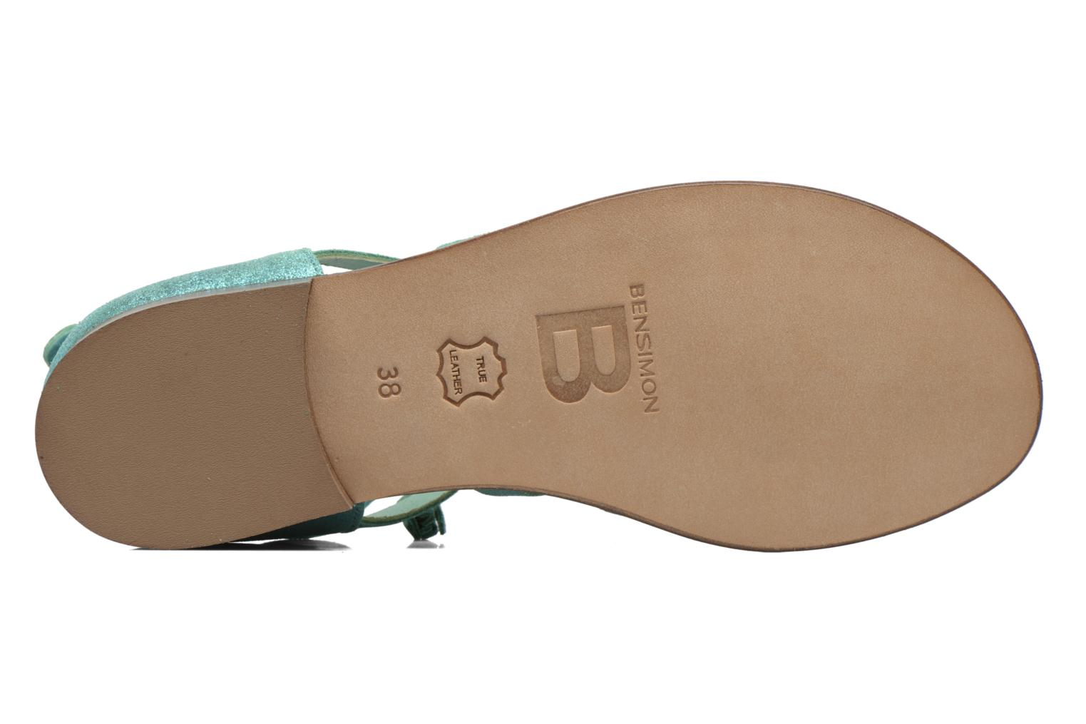 Sandals Bensimon Spartiate Montante Blue view from above