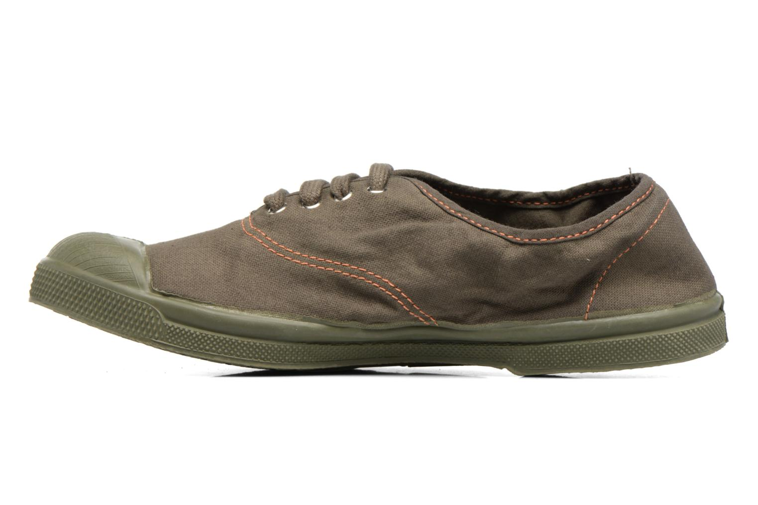 Baskets Bensimon Tennis Militaire Vert vue face