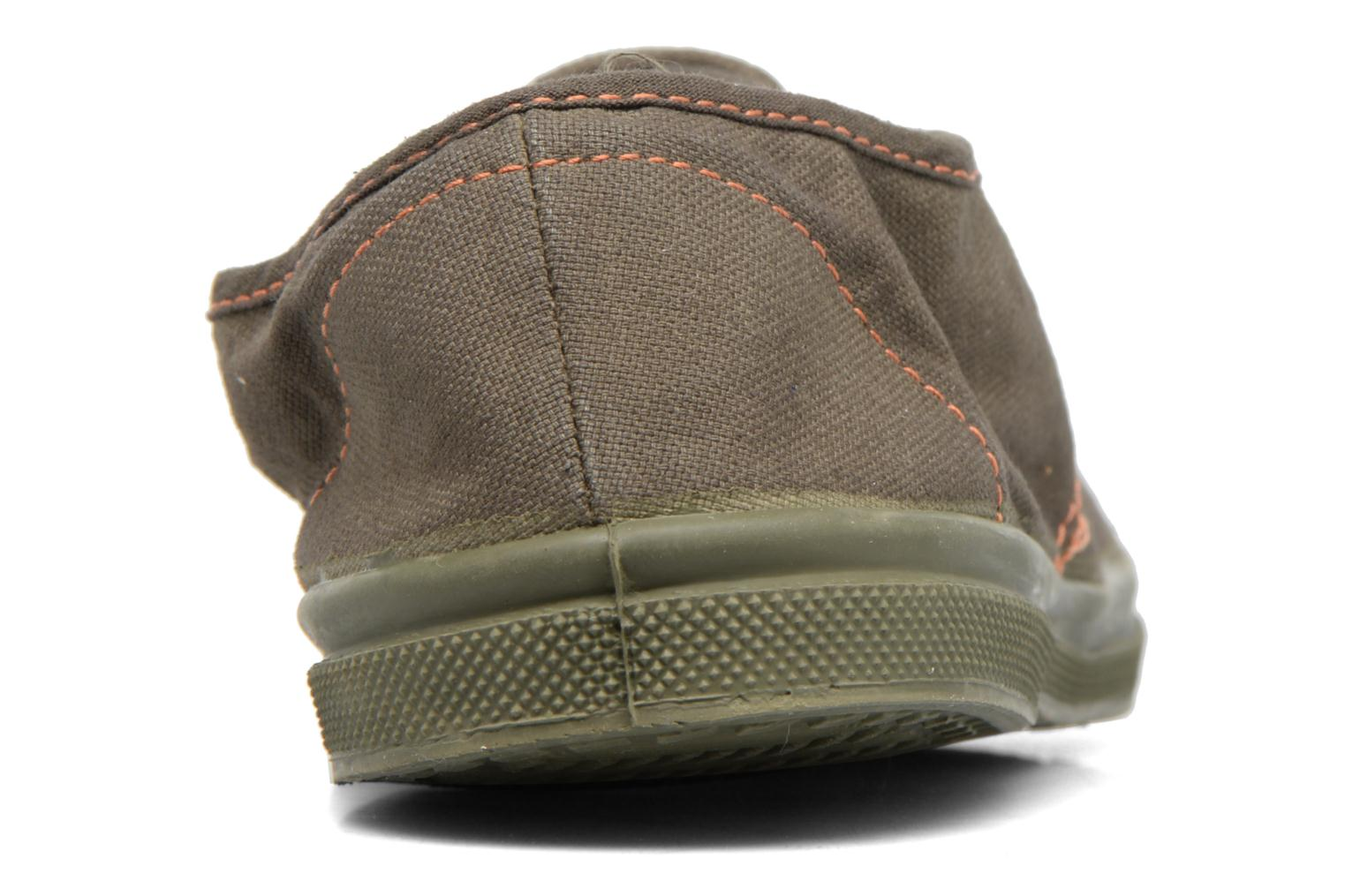 Trainers Bensimon Tennis Militaire Green view from the right