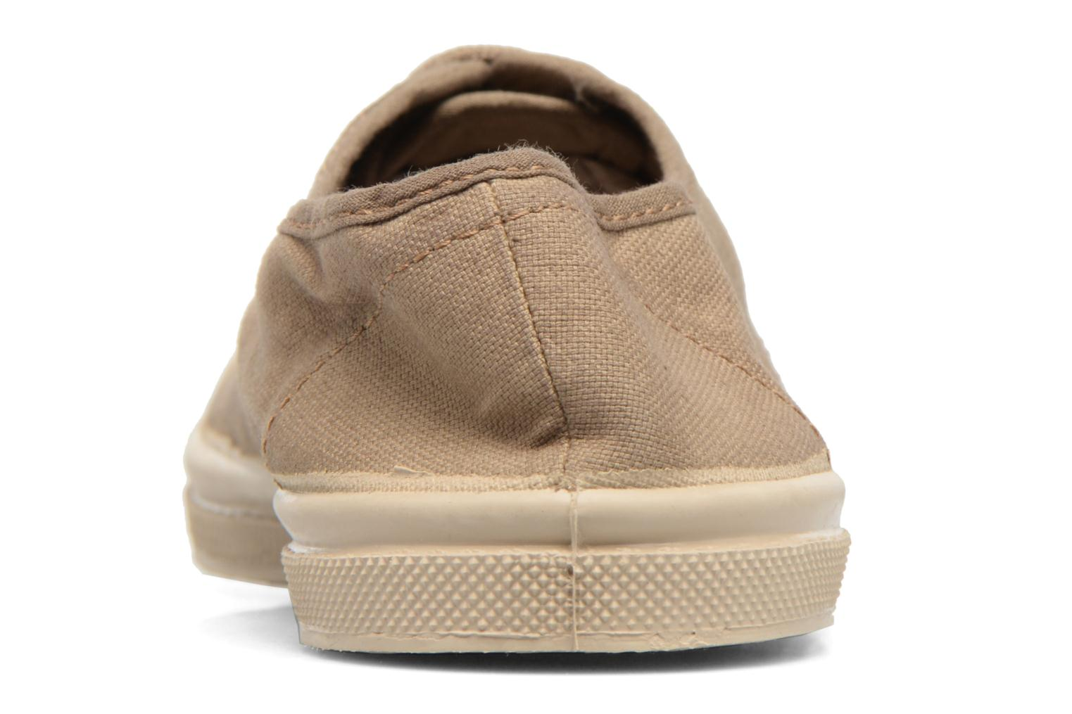 Trainers Bensimon Tennis Militaire Brown view from the right