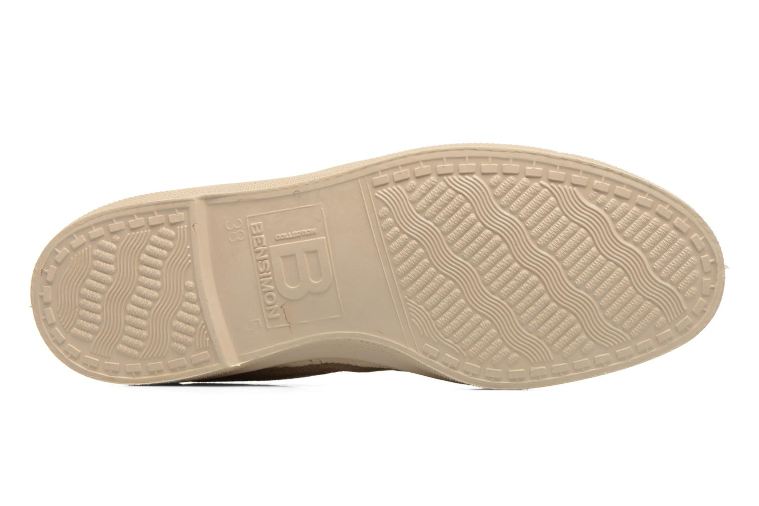Trainers Bensimon Tennis Militaire Brown view from above