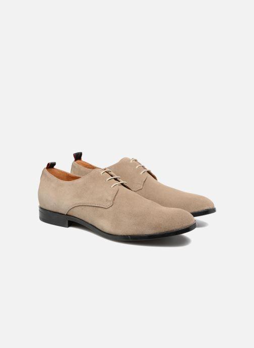 Zapatos con cordones Mr SARENZA Norage Beige vistra trasera
