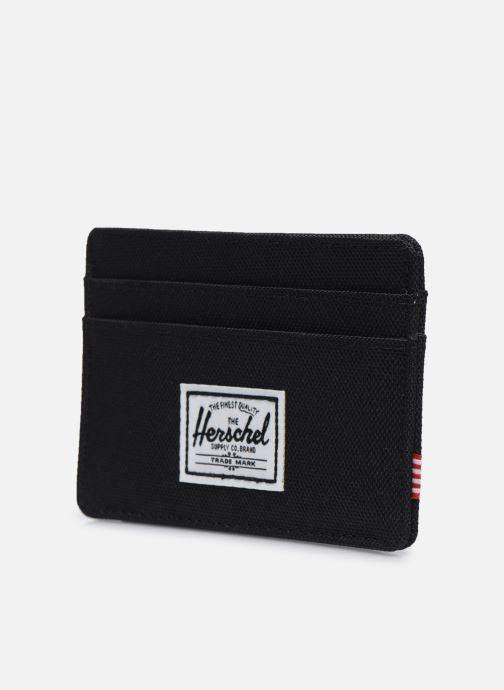 Kleine lederwaren Herschel Charlie RFID Zwart model