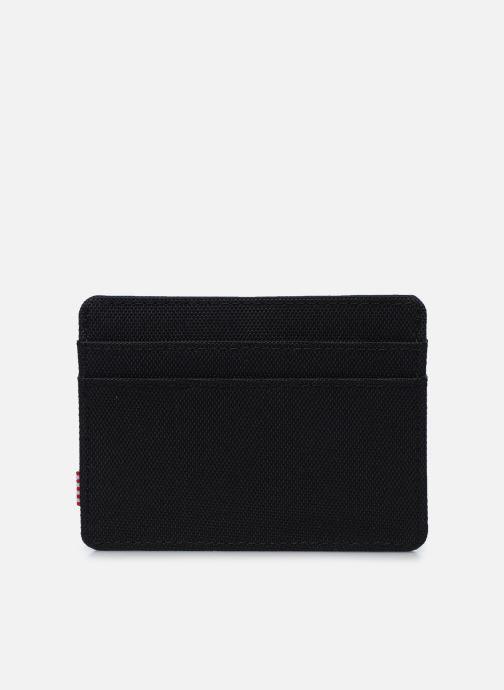 Kleine lederwaren Herschel Charlie RFID Zwart voorkant