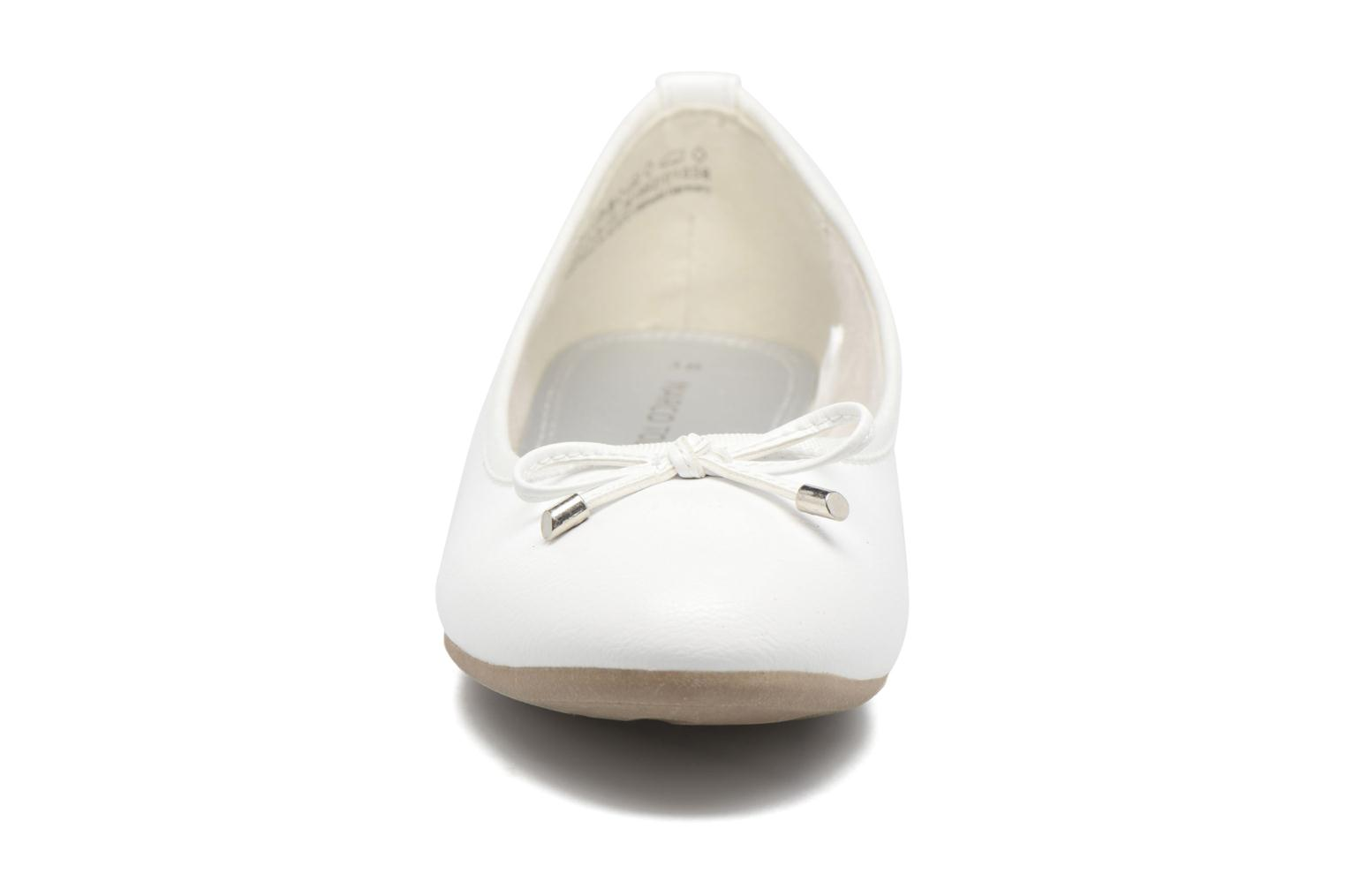 Ballerines Marco Tozzi Wiil Blanc vue portées chaussures