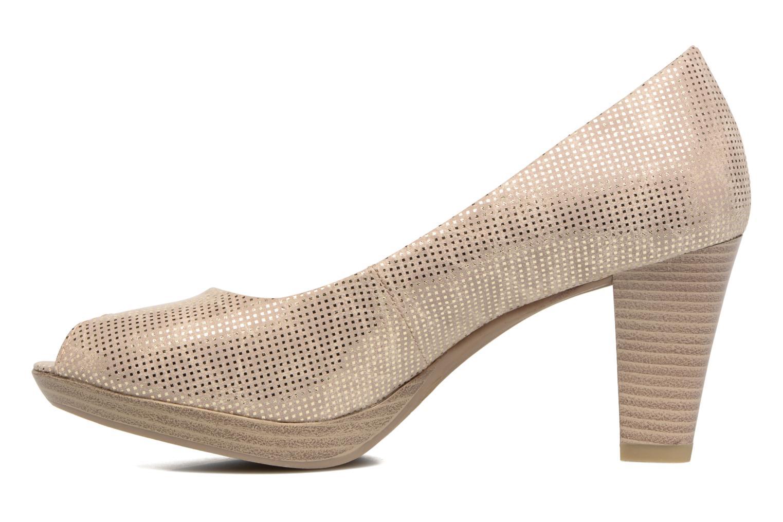 Zapatos de tacón Marco Tozzi Wose Oro y bronce vista de frente