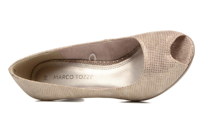 Zapatos de tacón Marco Tozzi Wose Oro y bronce vista lateral izquierda