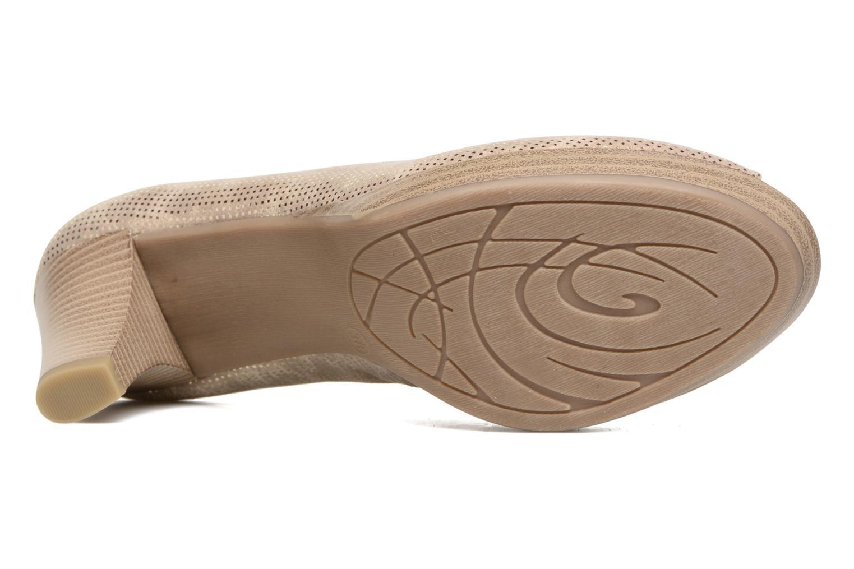 Zapatos de tacón Marco Tozzi Wose Oro y bronce vista de arriba