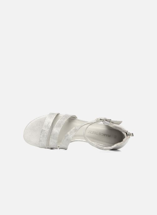 Sandals Marco Tozzi Meko Silver view from the left