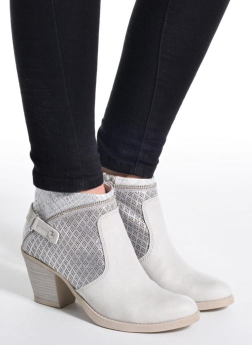Bottines et boots Marco Tozzi Tillou Gris vue bas / vue portée sac