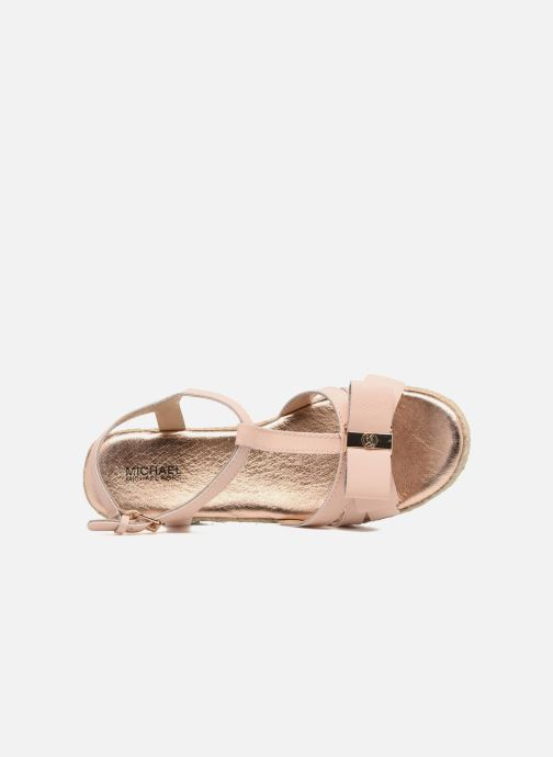 Sandales et nu-pieds Michael Michael Kors Zia-Cate Alexa Rose vue gauche