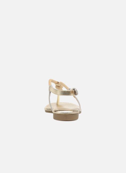 Sandalias Michael Michael Kors Zia-Demi Holly Oro y bronce vista lateral derecha