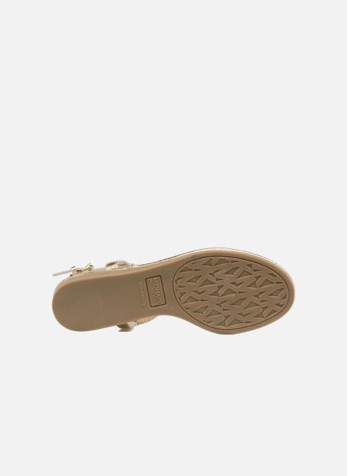 Sandales et nu-pieds Michael Michael Kors Zia-Demi Holly Or et bronze vue haut