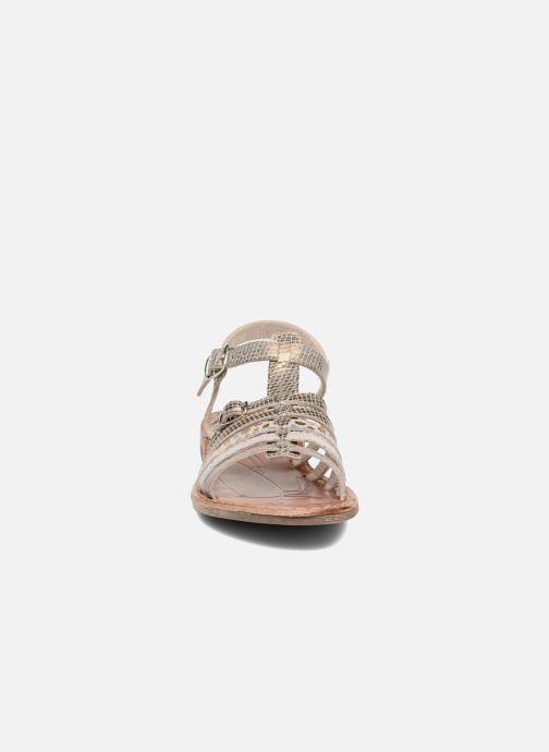 Sandales et nu-pieds Achile Bangkok Or et bronze vue portées chaussures