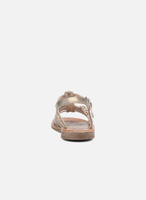 Sandales et nu-pieds Achile Bangkok Or et bronze vue droite