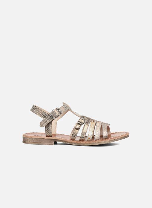 Sandales et nu-pieds Achile Bangkok Or et bronze vue derrière
