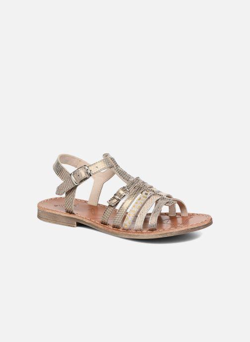 Sandales et nu-pieds Achile Bangkok Or et bronze vue détail/paire