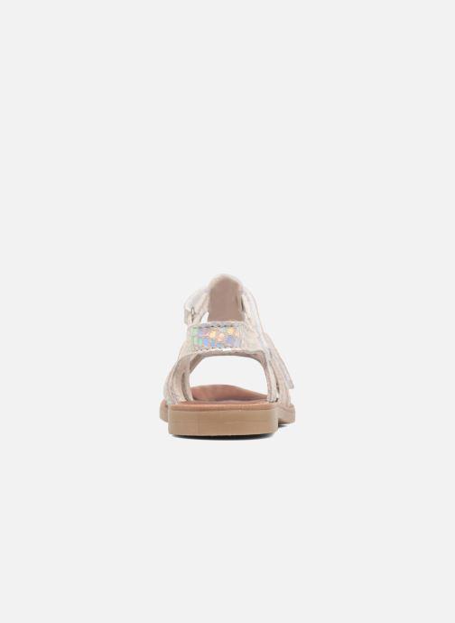Sandales et nu-pieds Achile Katagami Argent vue droite