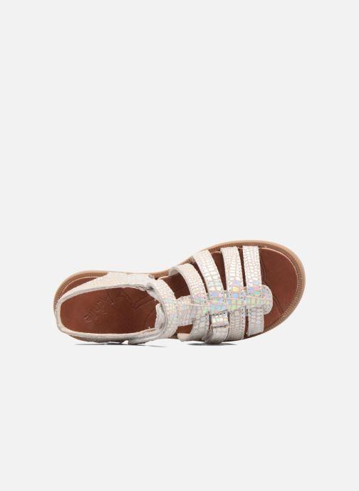 Sandales et nu-pieds Achile Katagami Argent vue gauche