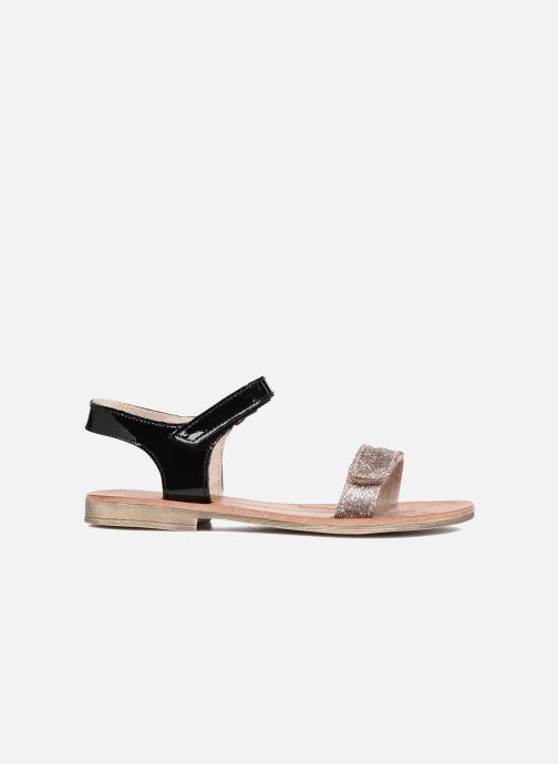 Sandales et nu-pieds Achile Komaki Noir vue derrière
