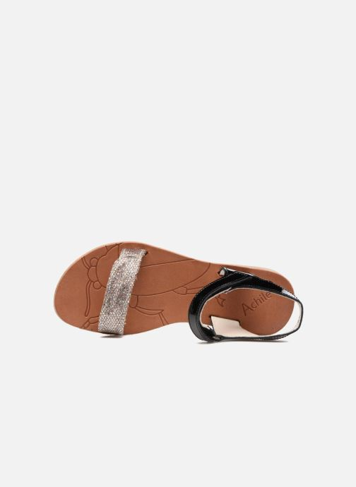 Sandals Achile Komaki Black view from the left