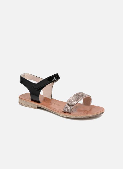 Sandaler Achile Komaki Sort detaljeret billede af skoene