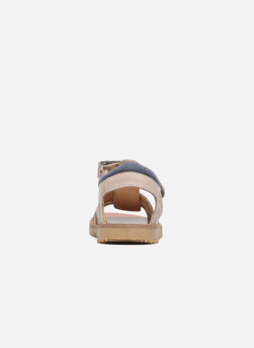 Sandales et nu-pieds GBB Pathe Gris vue droite