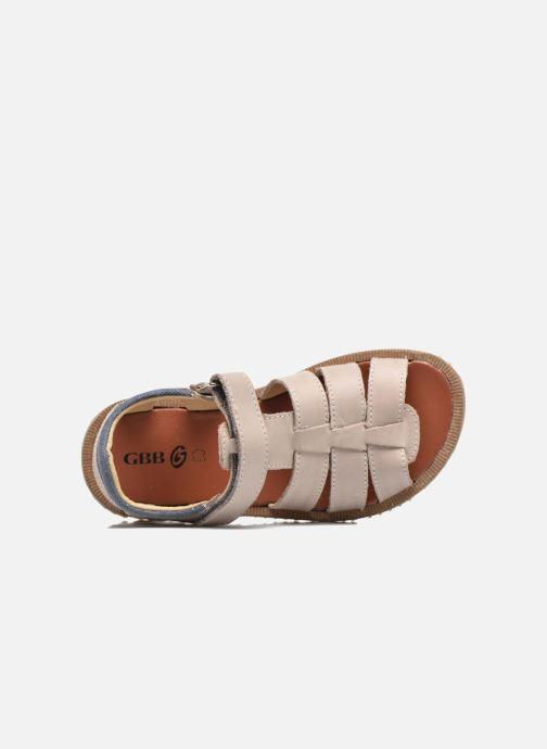 Sandales et nu-pieds GBB Pathe Gris vue gauche