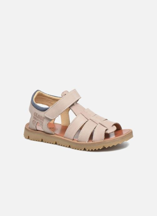Sandals GBB Pathe Grey detailed view/ Pair view