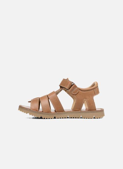 Sandales et nu-pieds GBB Pathe Marron vue face
