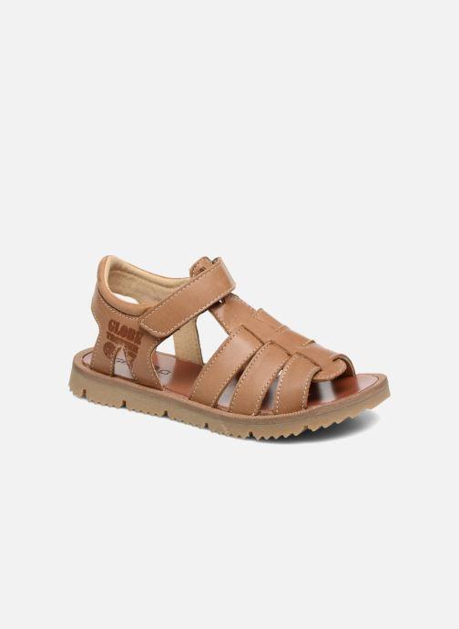 Sandales et nu-pieds GBB Pathe Marron vue détail/paire