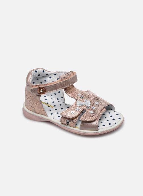 Sandales et nu-pieds Catimini Puce Rose vue détail/paire