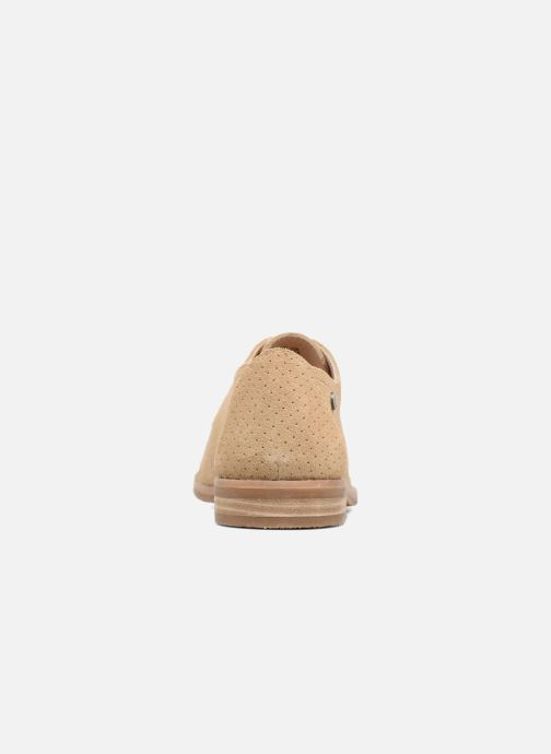 Lace-up shoes Hush Puppies Aiden Beige view from the right