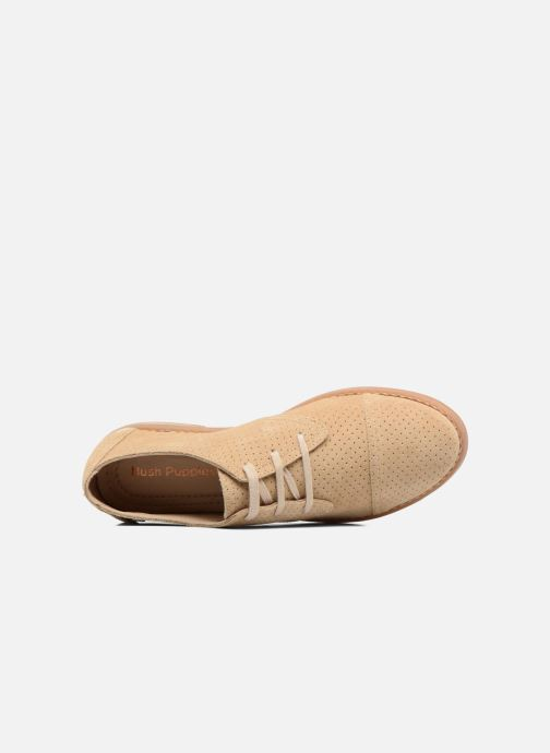 Lace-up shoes Hush Puppies Aiden Beige view from the left
