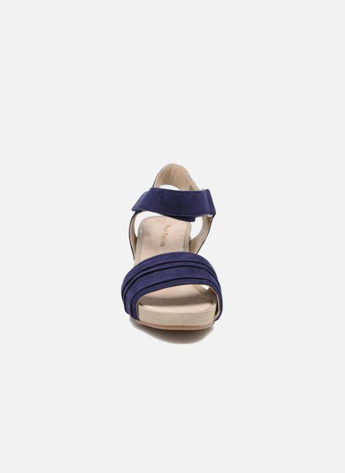 Sandales et nu-pieds Hush Puppies Eivee Bleu vue portées chaussures